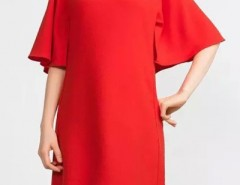 Simple Batwing Sleeve Keyhole Back Shift Dress OASAP bester Fashion-Online-Shop aus China