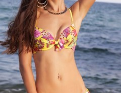 Spaghetti Strap Floral Print Paneled Two Piece Swimsuit OASAP bester Fashion-Online-Shop aus China