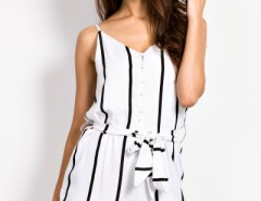 Fancy Girl Pinstripes Print Rompers OASAP bester Fashion-Online-Shop aus China