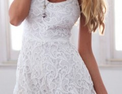 Spaghetti Straps White Lace Romper OASAP bester Fashion-Online-Shop aus China