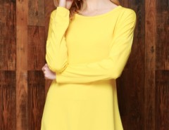 Spectra Yellow Crochet Lace Hem Trapeze Dress OASAP bester Fashion-Online-Shop aus China