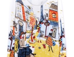 Street-chic Painting Print Sweater OASAP bester Fashion-Online-Shop aus China