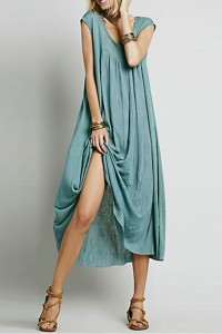 Stylish Asymmetric Loose Fit Cap Sleeve Stretch Dress OASAP bester Fashion-Online-Shop aus China