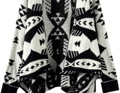 Stylish Geo Print Irregular Cardigan OASAP bester Fashion-Online-Shop aus China