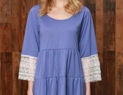 Stylish Lace Paneled Mini Dress OASAP bester Fashion-Online-Shop aus China