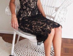 Stylish Scalloped Crochet Lace Shoulder-straps Dress OASAP bester Fashion-Online-Shop aus China