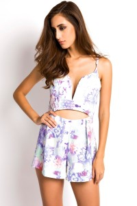 Stylish Sweetheart Neckline Cut Out Romper OASAP bester Fashion-Online-Shop aus China