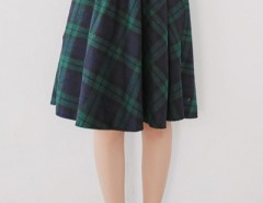 Sweet Plaid Printed Lining Midi Skirt OASAP bester Fashion-Online-Shop aus China