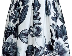 Vintage Floral Pleated Midi Skirt OASAP bester Fashion-Online-Shop aus China