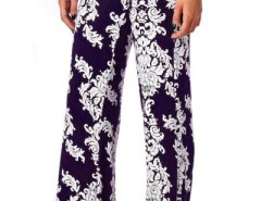 Vintage Floral Print Loose Fit Yoga Pants OASAP bester Fashion-Online-Shop aus China