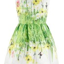 Vintage Floral Printing Sleeveless A-line Dress OASAP bester Fashion-Online-Shop aus China