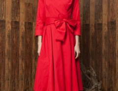 Vintage Hepburn Style Bow Belt Dress OASAP bester Fashion-Online-Shop aus China