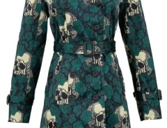 Vintage Skull Print Double-Breasted Belted Coat OASAP bester Fashion-Online-Shop aus China
