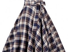 Vintage Tartan Print V Back Midi Dress OASAP bester Fashion-Online-Shop aus China